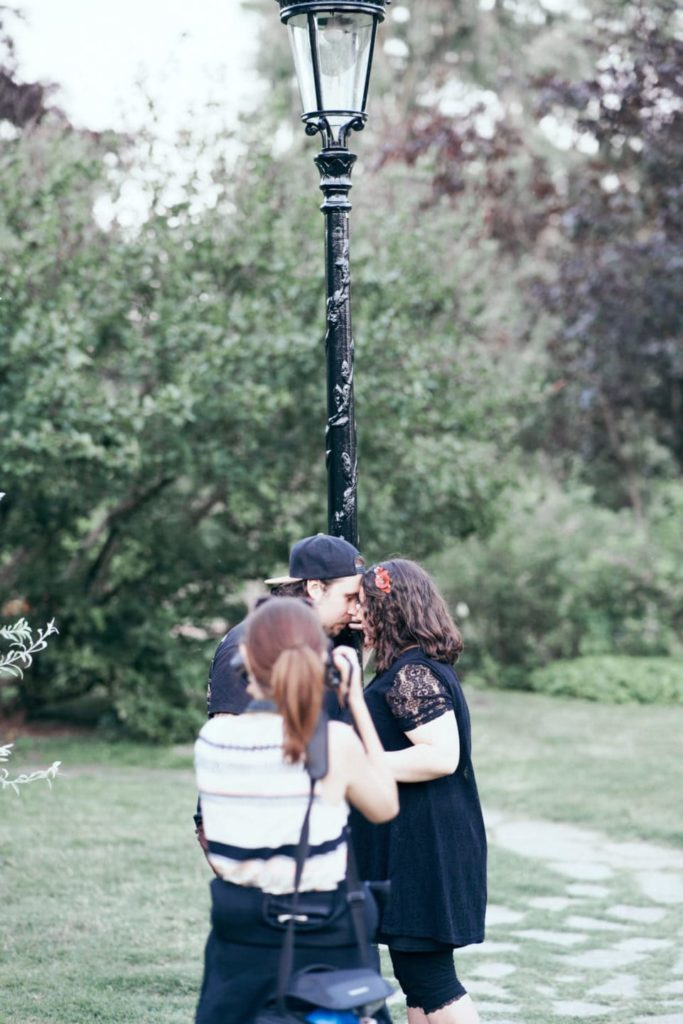 lampadaire photo couple