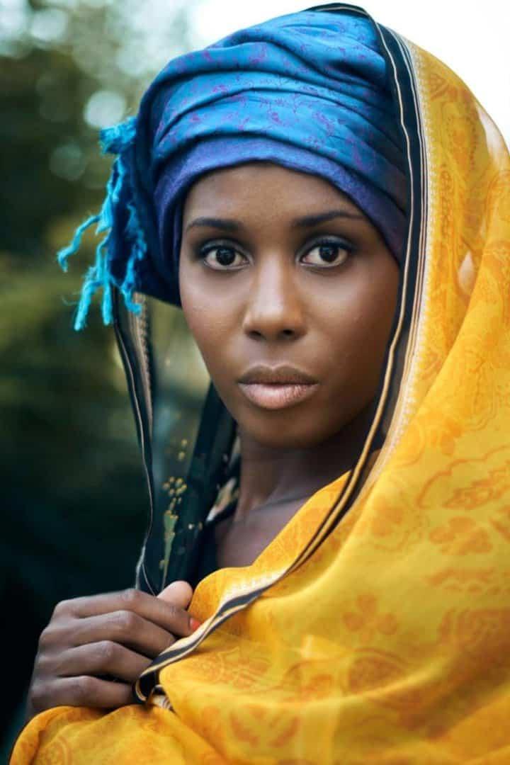 Portrait de femme voile lyon