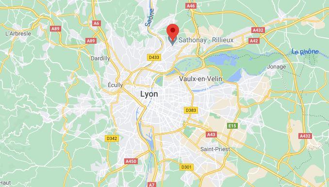 Lyon google maps