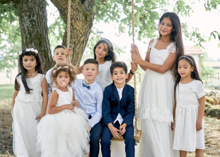 photographe mariage mâcon groupe enfants