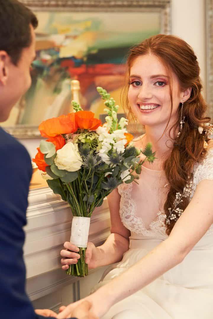 bar mariage bouquet de fleurs élopement