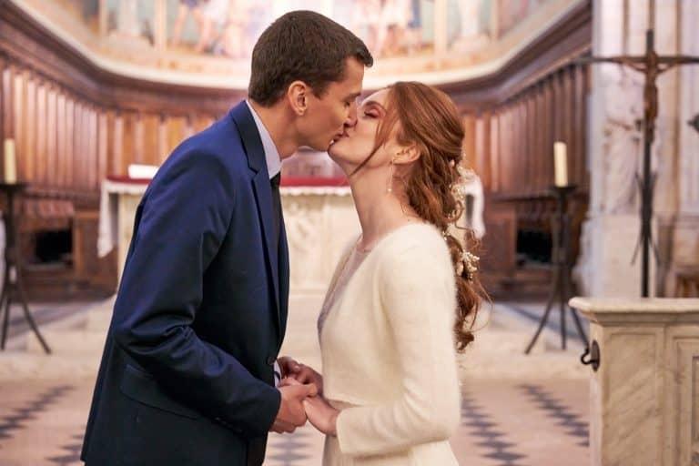 bisou église voeux mariage