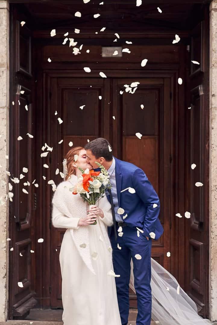 fleurs journée mariage église