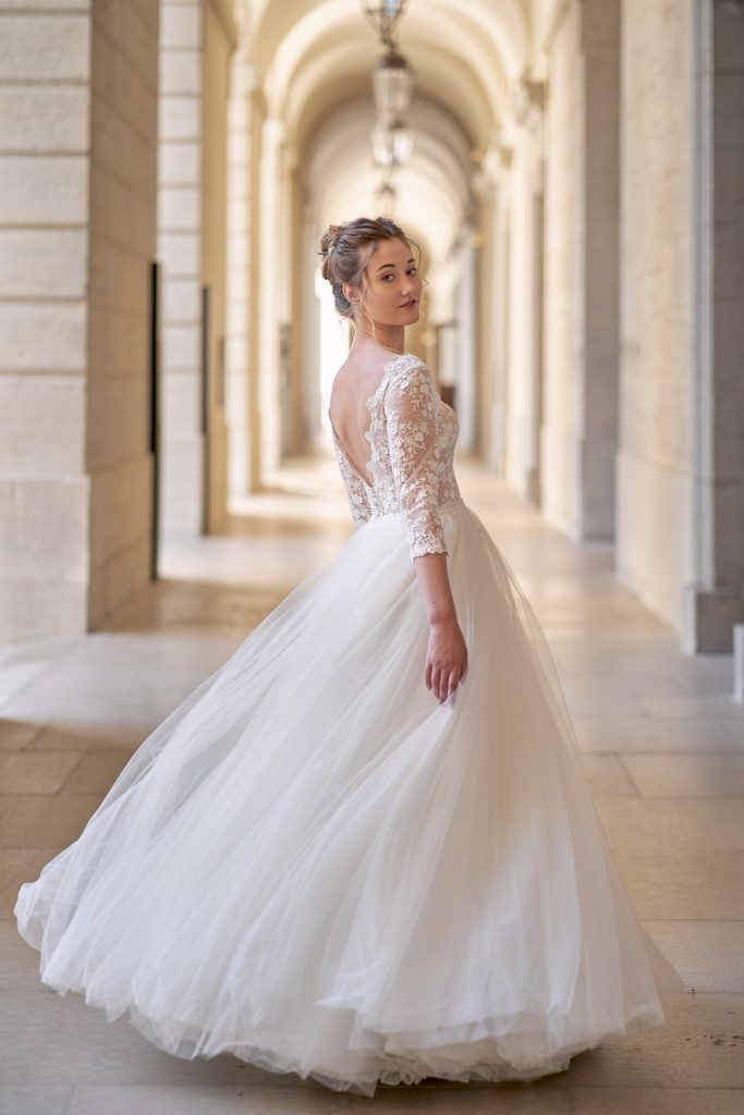 mariée grande robe blanche hotel dieu lyon