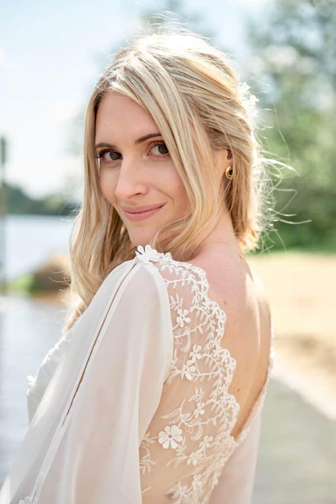 mariée portrait robe