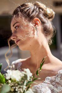 shooting inspiration mariée portrait bouquet