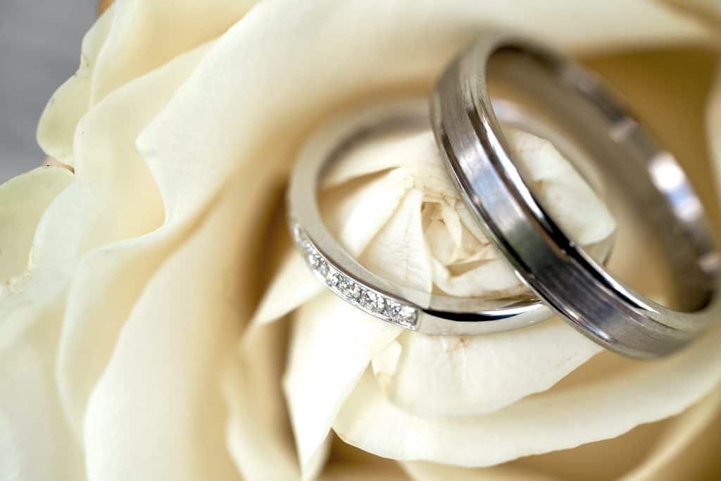 bague mariage rose