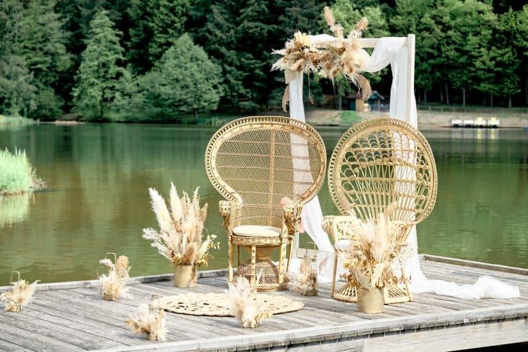 Décoration cérémonie laique bohème chix lac