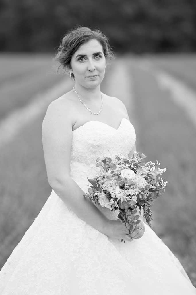 mariée noir et blanc