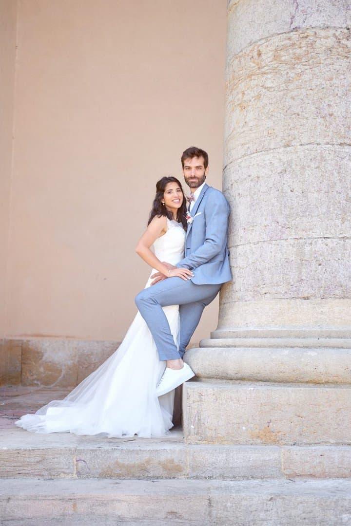 photo couple mariés colonnes sennecey