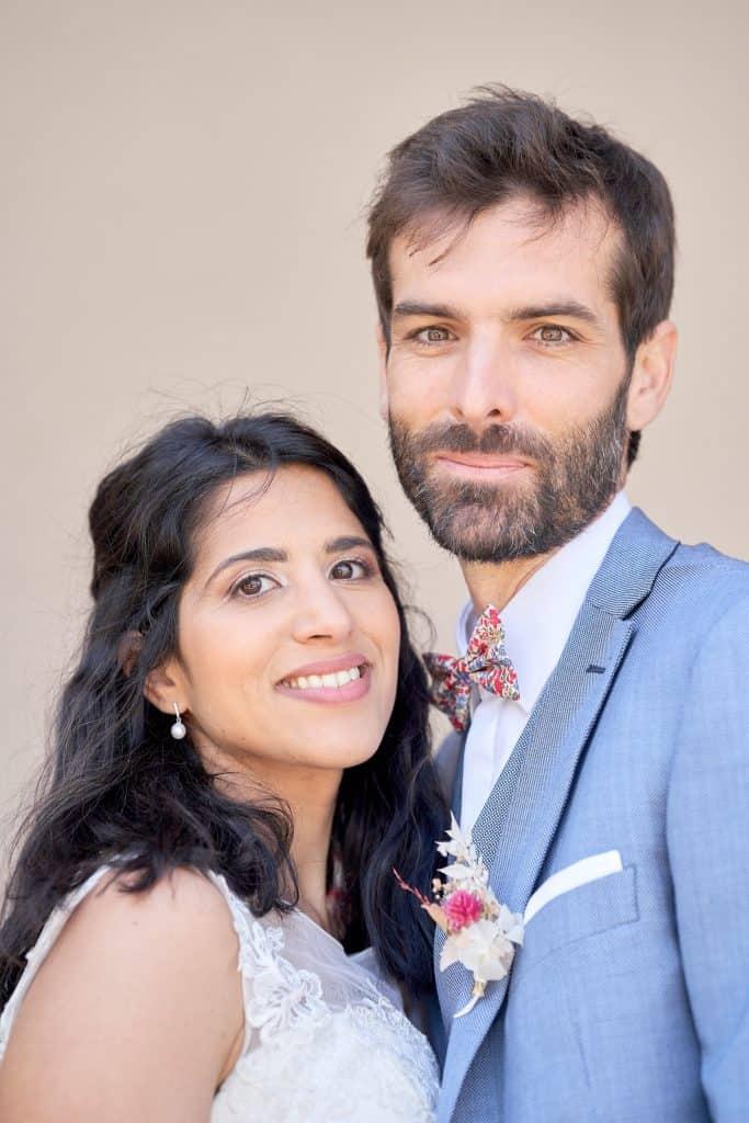 photo couple mariés portrait saone et loire