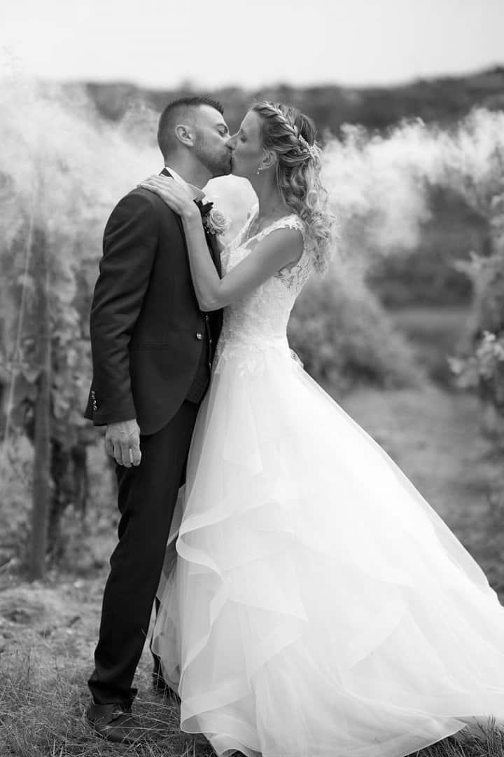mariage fumigène vignes
