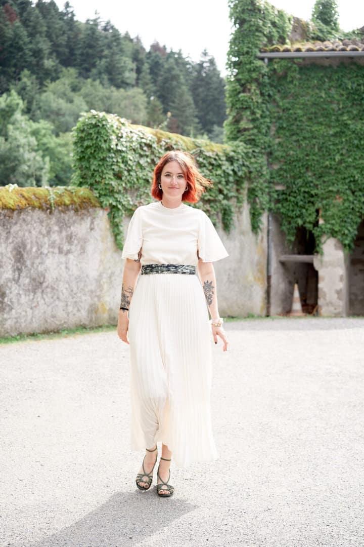 robe de mariée simple champêtre chateau