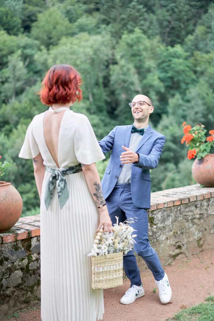 first look au chateau de charfetain marié ravi