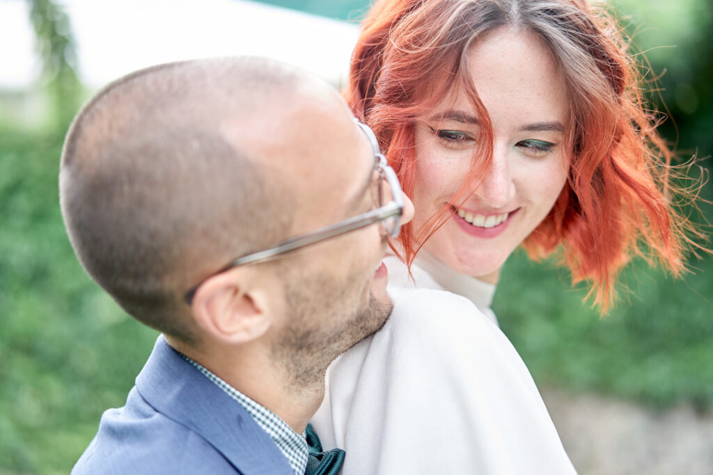 mariée rousse château de charfetain