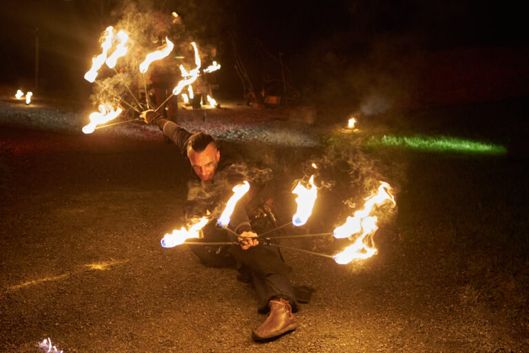 photo spectacle pyrotechnique mariage entreprise