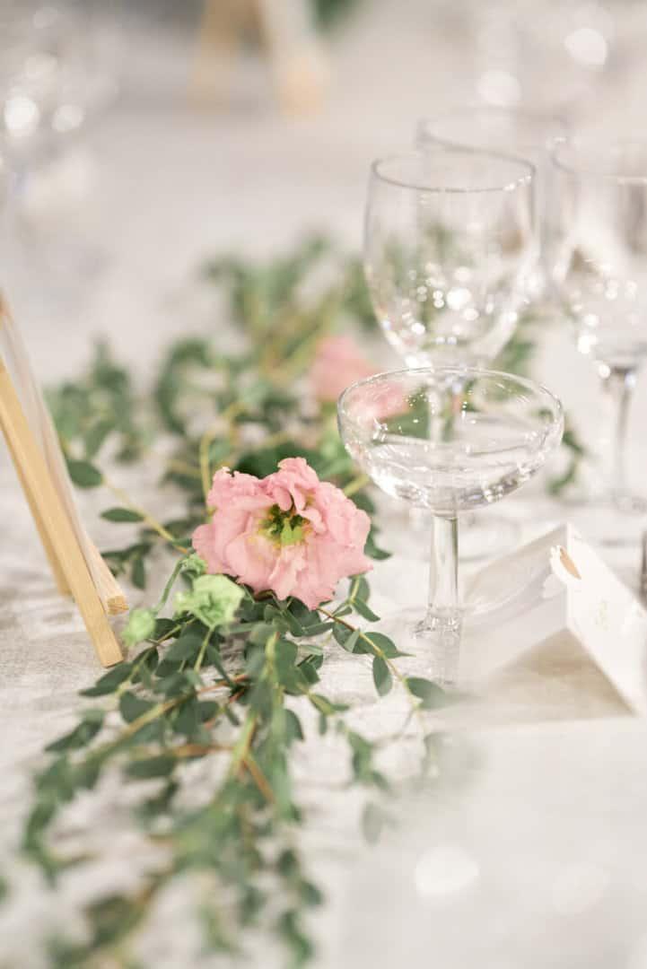 décoration de table hôtel des tresoms