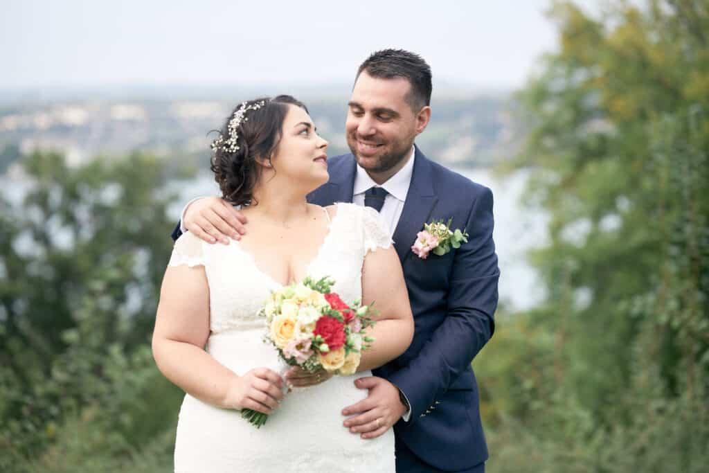 couple mariés hotel annecy les tresoms lac