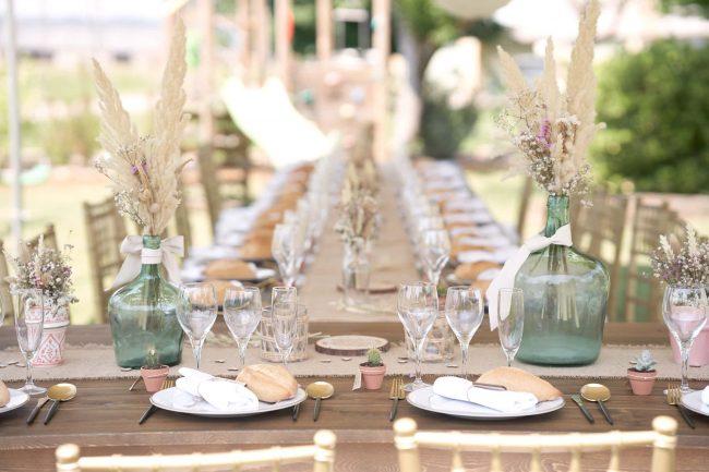 photo table de mariés idée déco saone et loire