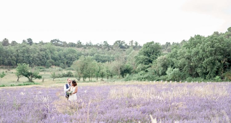 idée photo mariage champ de lavande