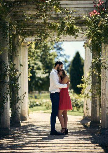 Couple au parc de la tête d'or