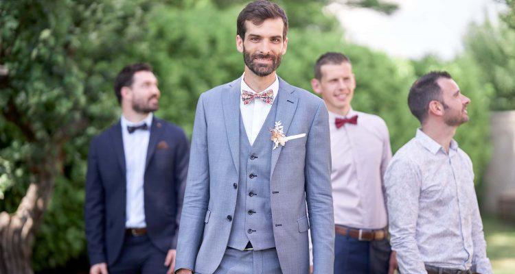 photo groupe mariage témoins du marié
