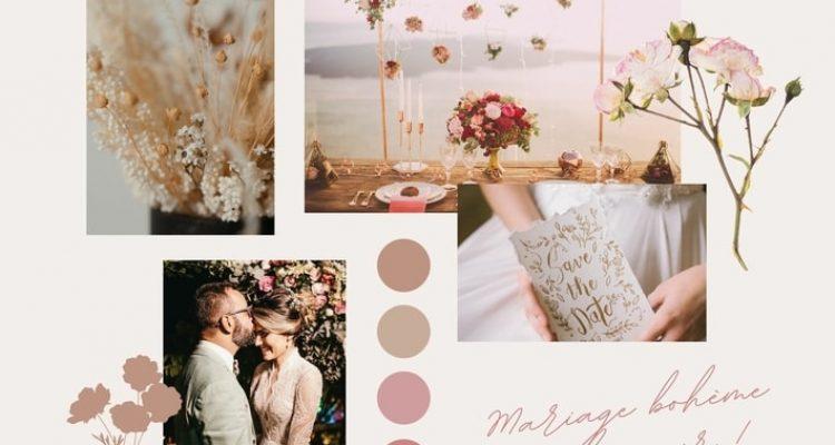 moodboard wedding sof pink airy